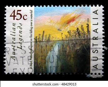AUSTRALIA - CIRCA 1999: A stamp printed in Australia drawn by the artist Artur Boyd - Nebuchadnezzar, circa 1999.