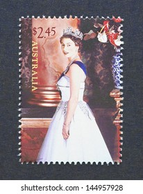 AUSTRALIA - CIRCA 2006: a postage stamp printed in Australia showing an image of Queen Elizabeth II, circa 2006.