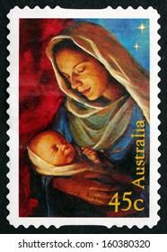 AUSTRALIA - CIRCA 2006: a stamp printed in the Australia shows Madonna and Child, Christmas, circa 2006