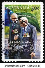 AUSTRALIA - CIRCA 2008: a stamp printed in the Australia shows Veterans, World War I, ANZAC, circa 2008