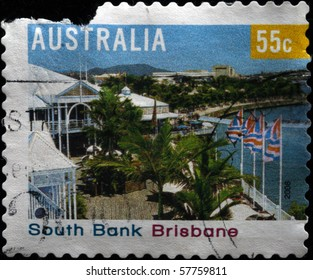 AUSTRALIA - CIRCA 2008: A stamp printed in Australia shows South Bank, Bribane, circa 2008