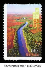 AUSTRALIA - CIRCA 2010: a stamp printed in the Australia shows Kakadu National Park, World Heritage Site in Australia, circa 2010.