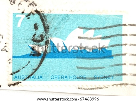 AUSTRALIA DATE UNKNOWN 7 Cent Stamp Stock Photo Edit Now 67468996