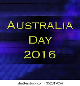 Australia Day 2016 yellow on blue illustration advert