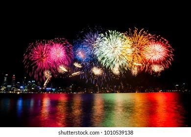 Australia Day 2018 Fireworks - Perth