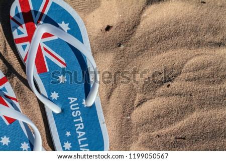 4a48bc5d262 Australia Day Flag Flip Flops Thongs Stock Photo (Edit Now ...