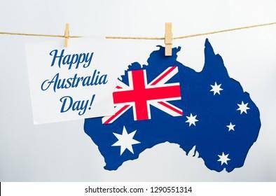 Australia Day holiday on January 26 with a Happy Australia Day