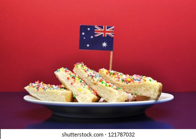 Australia Day January 26, - or Amzac Day -celebrate with traditional Aussie food yummy fairy bread.
