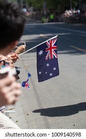 Australia day parade flag