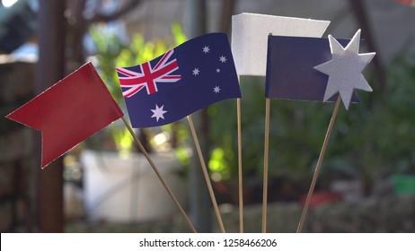 Australia Day Sammer Lawn Party. Patriotic holiday. Patriotic outdoor decorations