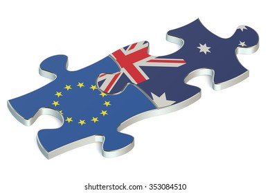 Australia and European Union puzzles from flags