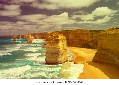 Australia. Great Ocean Road and 12 Apostles. Travel concept