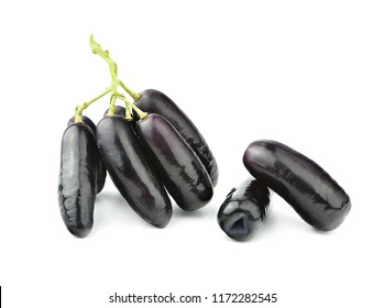 Australia grown sweet black sapphire grapes isolated on white background