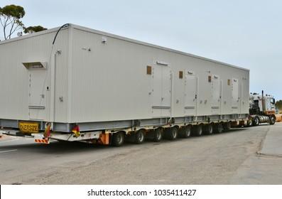 Australia, heavy oversize transport with truck