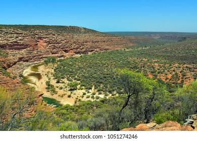 Australia, Kalbarri National Park, billabong of Murchison river