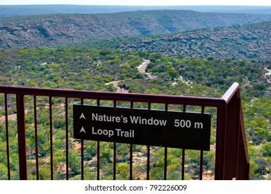 Australia, Kalbarri National Park, path to nature's window