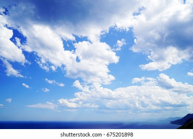 Australia Landscape : Blue ocean and cloudy sky, Otford lookout, New south wales, Australia