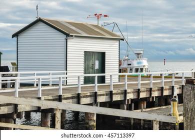Australia Landscape : Boat shed at Sorrento Ferry Terminal