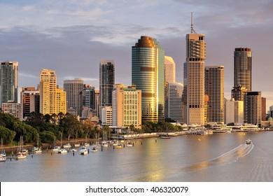 Australia Landscape, Brisbane Riverside skyline