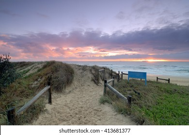 Australia Landscape, Currimundi beach at dawn