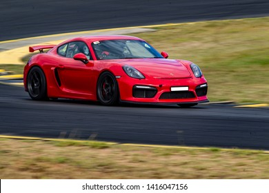 Australia May 2019: Porsche Race cars at Sydney Race track.