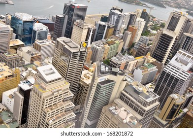 AUSTRALIA - NOVEMBER 16: Downtown Sydney, Australia from Sydney Tower.