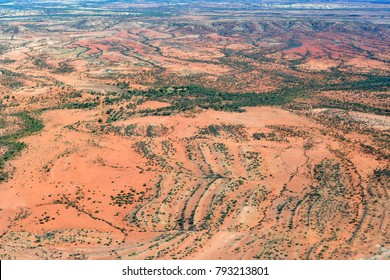 Australia, NT, arerial view from outback around Alice Springs