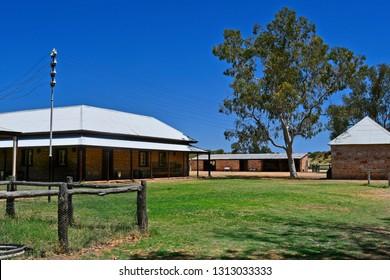 Australia, NT, old historic telegraph station in Alice Springs