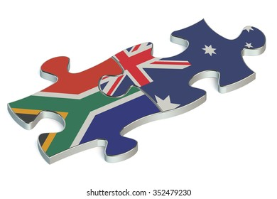 Australia and Republic of South Africa puzzles from flags