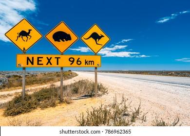 Australia road signs