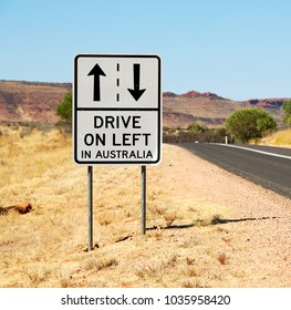 in  australia   the sign of drive on left like  concept of safety