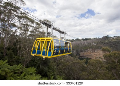 AUSTRALIA - The skyway connecting two cliffs in the Blue Mountains in Katoomba, New South Wales on April 1, 2013