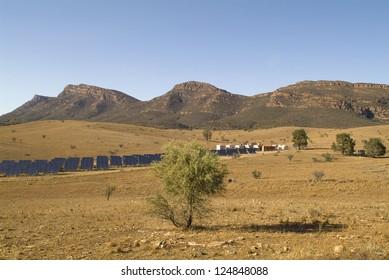Australia, solar collectors - solar power station in Wilpena, Flinders Range Nationalpark
