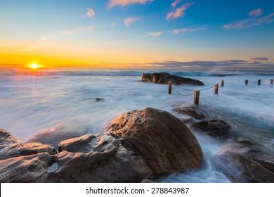 Australia sunrise seascape