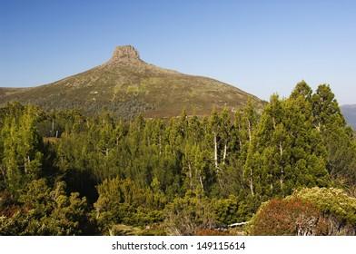 Australia Tasmania Cradle Mountain Lake St Clair National Park Overland Track Part of Tasmanian Wilderness World Heritage Area View from  Mt Ossa (1617m) Tasmanias Highest Mountain