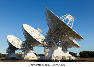 The Australia Telescope Compact Array (ATCA), at the Paul Wild Observatory, is an array of six 22-m antennas used for radio astronomy. It is located about 25 km west of  Narrabri in rural NSW