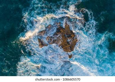 Australia under rising sea water
