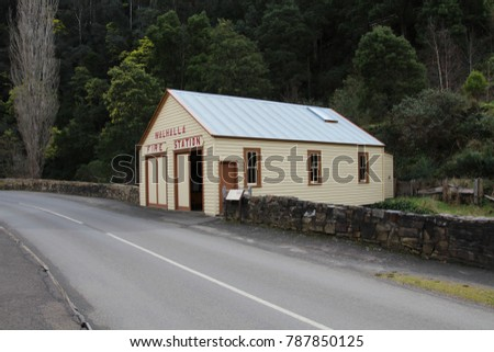 AUSTRALIA, VICTORIA, WALHALLA, MAIN STREET, AUGUST 20, 2016: Fire Station of the historic gold mining town Walhalla in Australia