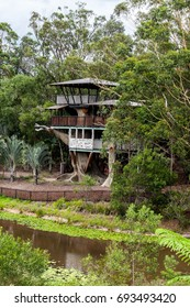 AUSTRALIA ZOO, QUEENSLAND,AUSTRALIA-11th DEC 2016:-The tree house on Bindis island home to snakes and amphibians