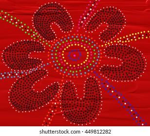 Australian Aboriginal Dot Painting Meeting Place