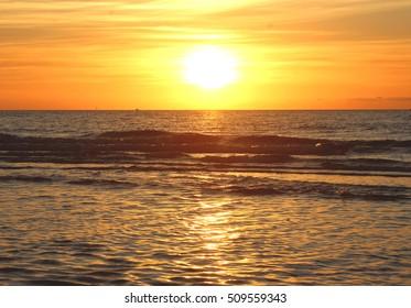 Australian bright sea sunset