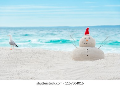 Australian Christmas Sandman on a beautiful white sand beach