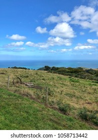 Australian Coastal Country Landscape view with Ocean in the background