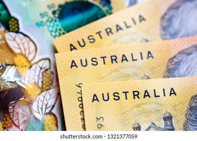 Australian fifty dollar banknote. The new 2019 issue bill is designed to deter counterfeiting, the note is polymer and water resistant with a clear holographic strip.