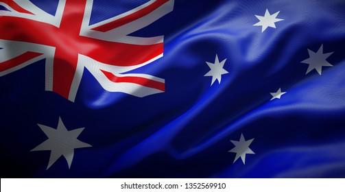 Australian flag. Australia.