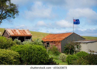 Australian flag on top of the roof