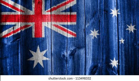 Australian flag overlaid with grunge texture