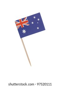 Australian food flag isolated against a white background