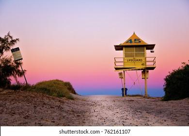 Australian Gold Coast Life Guard Hut