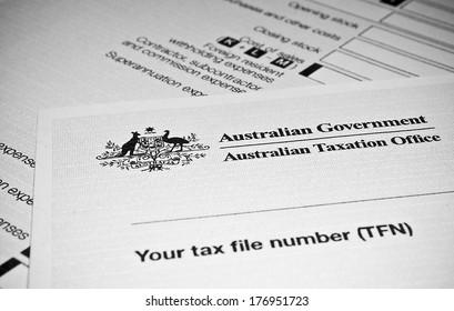 Australian Individual tax return form